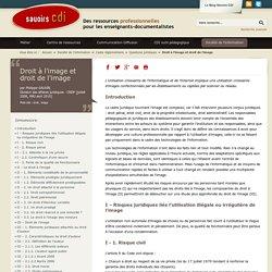 Savoirs CDI: Droit à l'image et droit de l'image