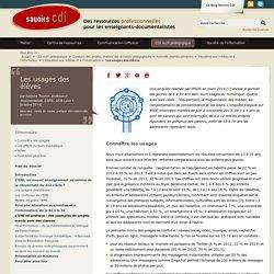 Savoirs CDI: Les usages des élèves