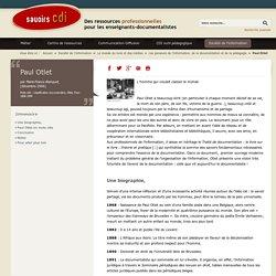 Savoirs CDI: Paul Otlet