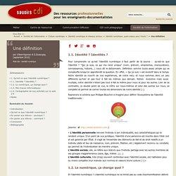 Savoirs CDI: Une définition