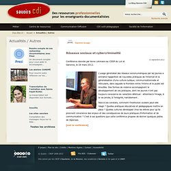 Réseaux sociaux et cybercriminalité