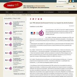 Savoirs CDI: Les TPE doivent dorénavant former au respect du droit d'auteur
