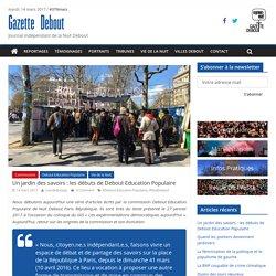 Un jardin des savoirs: les débuts de Debout Education Populaire - Gazette Debout
