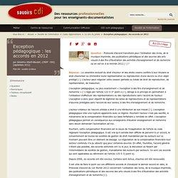 Exception pédagogique : les accords en 2012