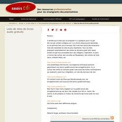 Savoirs CDI: Liste de sites de livres audio gratuits