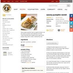 Savory Pumpkin Ravioli