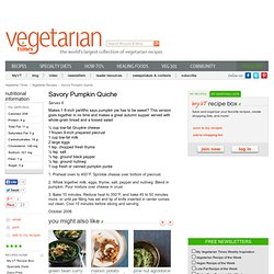 Savory Pumpkin Quiche Recipe