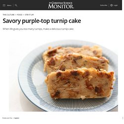 Savory purple-top turnip cake