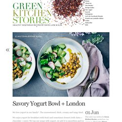Savory Yogurt Bowl + London