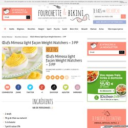 Œufs Mimosa light façon Weight Watchers – 3 PP