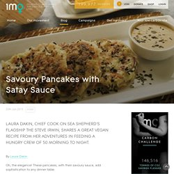 Savoury Pancakes with Satay Sauce