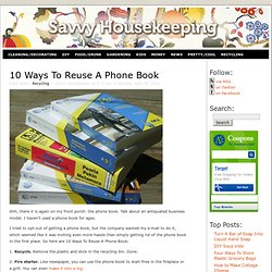 10 Ways To Reuse A Phone Book