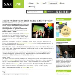 Saxion student enters crash course in Silicon Valley