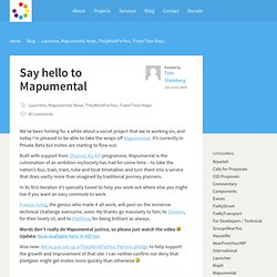 Blog Archive » Say hello to Mapumental