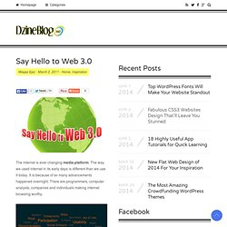 Say Hello to Web 3.0