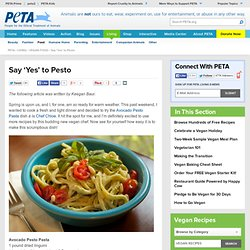 Say 'Yes' to Pesto | PETA.org - StumbleUpon
