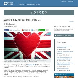 Ways of saying 'darling' in the UK