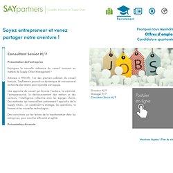 Consultant Senior H/F » SayPartners