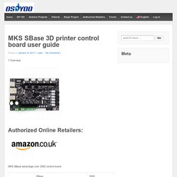MKS SBase 3D printer control board user guide