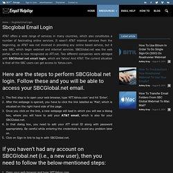 SBCglobal Net Email login & Settings Help
