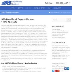 Sbcglobal Help Number 1-877-424-6647 Email Help Setup