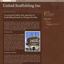 The Scaffolding Rentals in Chicago