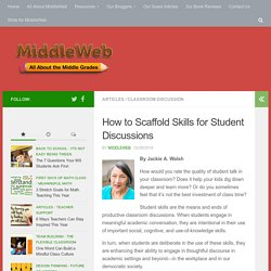 Scaffolding Student Skills for Productive Classroom Discussions