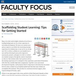 Scaffolding Student Learning: Tips for Getting Started