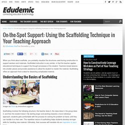 On-the-Spot Support: Using the Scaffolding Technique in Your Teaching Approach