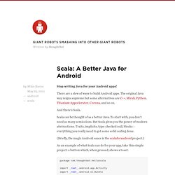 Scala: A Better Java for Android — giant robots smashing into other giant robots