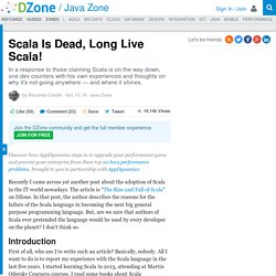 Scala Is Dead, Long Live Scala!
