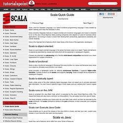 Scala Quick Guide