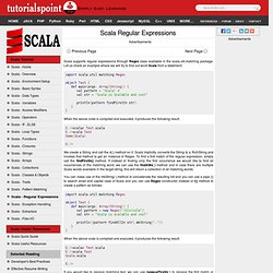 Scala Regular Expressions