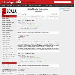Scala Regular Expressions
