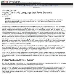Scala: The Static Language that Feels Dynamic