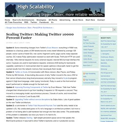 Scaling Twitter: Making Twitter 10000 Percent Faster