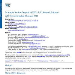 Scalable Vector Graphics (SVG) 1.1 (Second Edition)