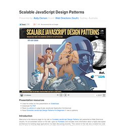Scalable JavaScript Design Patterns