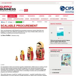 Scalable procurement - Supply Business