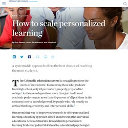 How to scale personalized learning