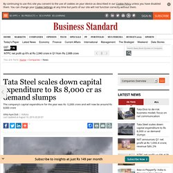 Tata Steel scales down capital expenditure to Rs 8,000 cr as demand slumps