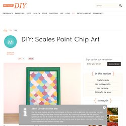 Scales Paint Chip Art