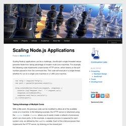 Scaling Node.js Applications