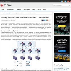Scaling on Leaf-Spine Architecture With FS.COM Switches - Blog of FS.COM