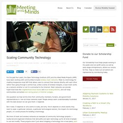 Scaling Community Technology
