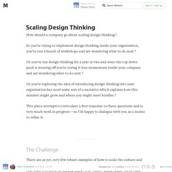 Scaling Design Thinking — Design Diary