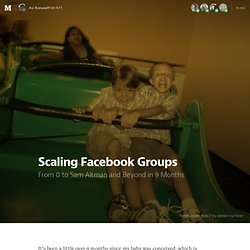 Scaling Facebook Groups — HS Hackers