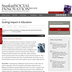 Scaling Impact in Education