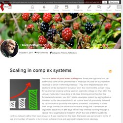 Scaling in complex systems