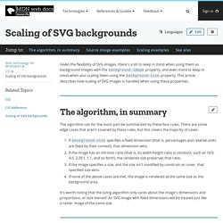 Scaling of SVG backgrounds - CSS